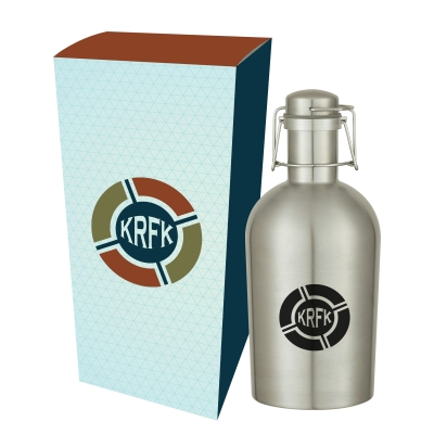 64 Oz. Stainless Steel Growler with Custom Box