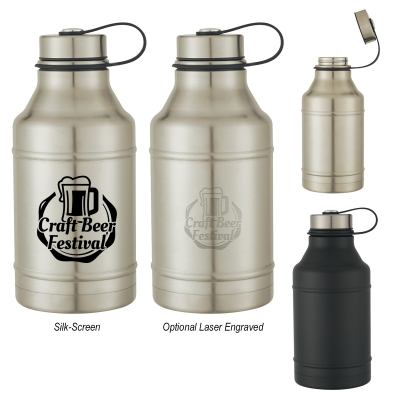 64 Oz. Stainless Steel Wide-Mouth Growler
