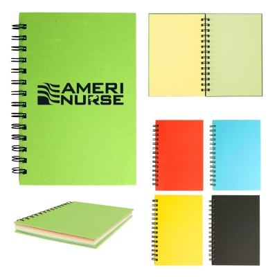 5 x 7 Spiral Notebook With Colored Paper