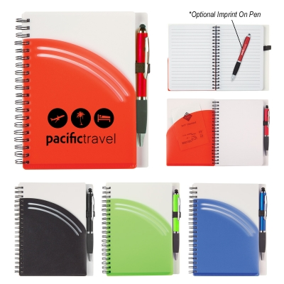 5 x 7 Rainbow Spiral Notebook With Pen