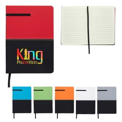5 x 7 Two-Tone Leatherette Journal