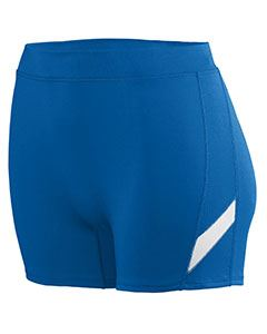 Augusta Drop Ship Ladies Wicking Poly/Span Short