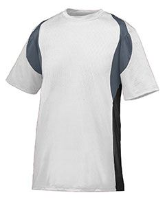 Augusta Drop Ship Adult Wicking Poly/Span Short-Sleeve Jersey with Contrast Inserts