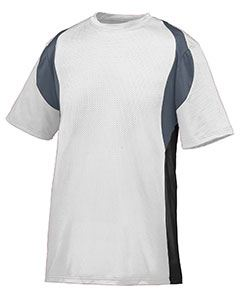 Augusta Drop Ship Youth Wicking Poly/Span Short-Sleeve Jersey with Contrast Inserts