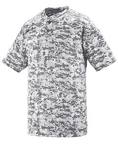 Augusta Drop Ship Youth Polyester Digi Print Two-Button Short-Sleeve Jersey