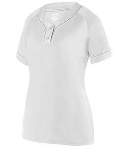 Augusta Drop Ship Ladies Overpower 2-Button Jersey