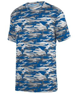 Augusta Drop Ship Youth Mod Camo Wicking Short-Sleeve T-Shirt