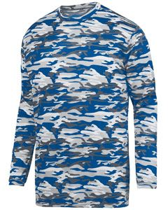 Augusta Drop Ship Youth Mod Camo Wicking Long-Sleeve T-Shirt