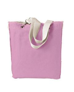 Authentic Pigment 14 oz. Direct-Dyed Raw-Edge Tote