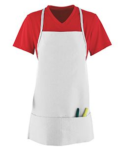 Augusta Drop Ship Unisex Medium Apron With Pouch