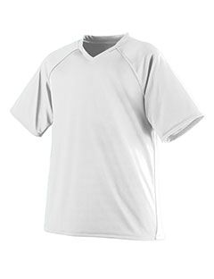 Augusta Drop Ship Youth Wicking Polyester V-Neck Jersey with Contrast Piping
