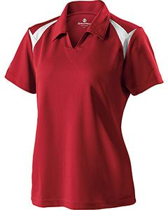 Holloway Ladies Polyester Pique Laser Polo