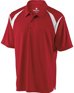 Holloway Adult Polyester Pique Laser Polo