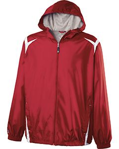 Holloway Youth Polyester Full Zip Hooded Collision Jacket