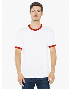American Apparel Unisex Fine Jersey Ringer T-Shirt
