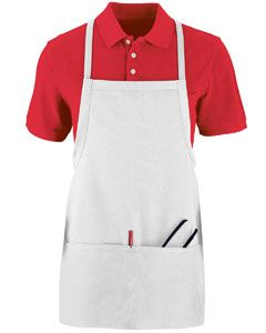 Augusta Drop Ship Adult Tavern Apron With Pouch