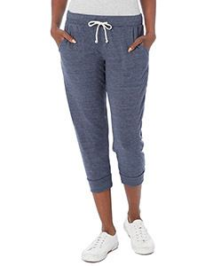 Alternative Drop Ship Ladies Cropped Eco Jersey Jogger Pants