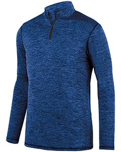 Augusta Sportswear Adult Intensify Black Heather Quarter-Zip Pullover