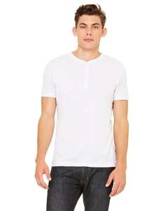 Bella + Canvas Men's Triblend Short-Sleeve Henley