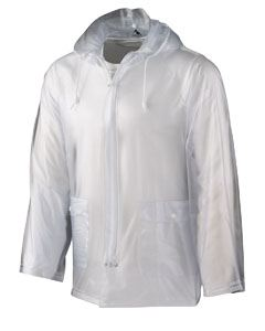 Augusta Drop Ship Adult Clear Rain Jacket