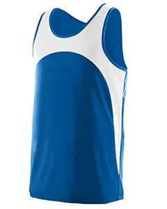 Augusta Drop Ship Youth Wicking Polyester Sleeveless Jersey with Contrast Inserts