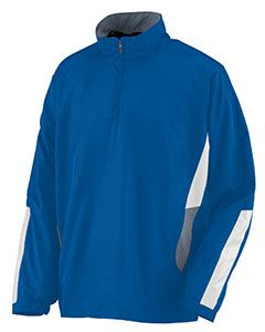 Augusta Drop Ship Adult Water Resistant Polyester Diamond Tech Half Zip Pullover