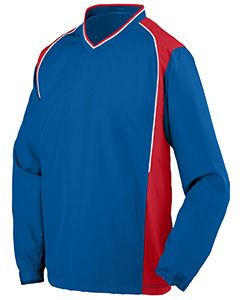 Augusta Drop Ship Youth Water Resistant Polyester Diamond Tech V-Neck Pullover