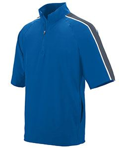 Augusta Drop Ship Adult Water Resistant Poly/Span Short-Sleeve Half Zip Pullover