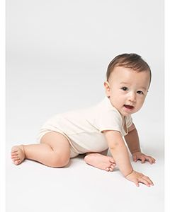 American Apparel Infant Organic Baby Rib Short-Sleeve One-Piece