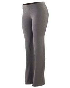 Augusta Drop Ship Ladies Tall Wide Waist Brushed Back Polyester/Spandex Pant