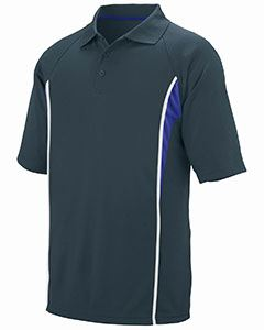 Augusta Drop Ship Adult Wicking Polyester Mesh Sport Shirt with Contrast Inserts