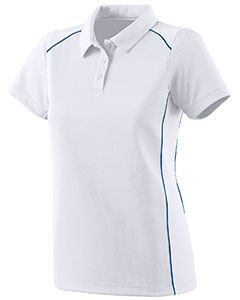 Augusta Drop Ship Ladies Wicking Polyester Sport Shirt with Contrast Piping