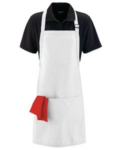 Augusta Drop Ship Adult Full Width Apron with Pockets