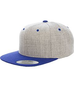 Yupoong Adult 6-Panel Structured Flat Visor Classic Two-Tone Snapback