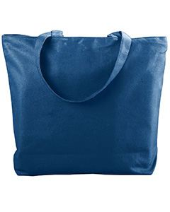 Augusta Drop Ship Canvas Zipper Tote