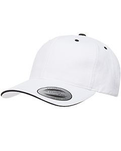Yupoong Adult Brushed Cotton Twill 6-Panel Mid-Profile Sandwich Cap