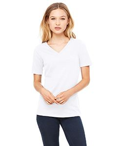 Bella + Canvas Ladies Relaxed Jersey Short-Sleeve V-Neck T-Shirt