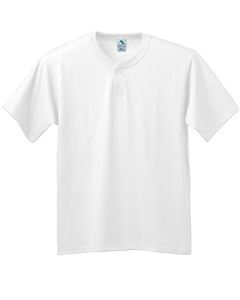 Augusta Drop Ship Six-Ounce Two-Button Baseball Jersey-Youth