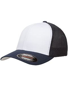 Yupoong Drop Ship Flexfit Trucker Mesh with White Front Panels Cap