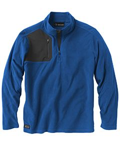 Dri Duck Men's 100% Polyester Nano Fleece TM 1/4 Zip Interval Pullover