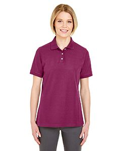UltraClub Ladies Platinum Honeycomb Pique Polo