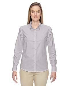 Ash City - North End Ladies Paramount Wrinkle-Resistant Cotton Blend Twill Checkered Shirt