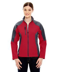 Ash City - North End Ladies Compass Colorblock Three-Layer Fleece Bonded Soft Shell Jacket