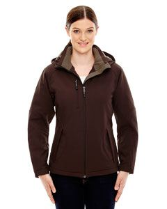 Ash City - North End Ladies Glacier Insulated Three-Layer Fleece Bonded Soft Shell Jacket with Detachable Hood