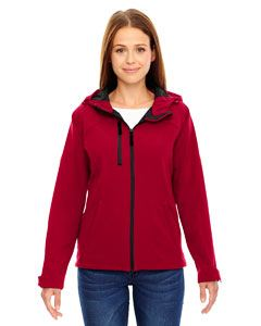 Ash City - North End Ladies Prospect Two-Layer Fleece Bonded Soft Shell Hooded Jacket