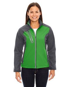Ash City - North End Ladies Terrain Colorblock Soft Shell with Embossed Print