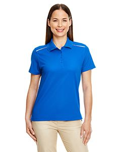 Ash City - Core 365 Ladies Radiant Performance Pique Polo with Reflective Piping