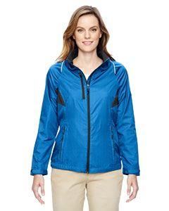 Ash City - North End Ladies Sustain Lightweight Recycled Polyester Dobby Jacket with Print