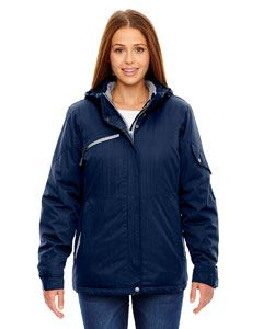 Ash City - North End Ladies Rivet Textured Twill Insulated Jacket