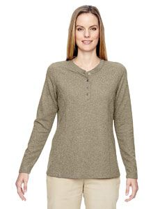 Ash City - North End Ladies Excursion Nomad Performance Waffle Henley